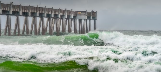 WE ARE IN AWE OF NATURE: TROPICAL STORM GORDON ON PENSACOLA BEACH, FLORIDA