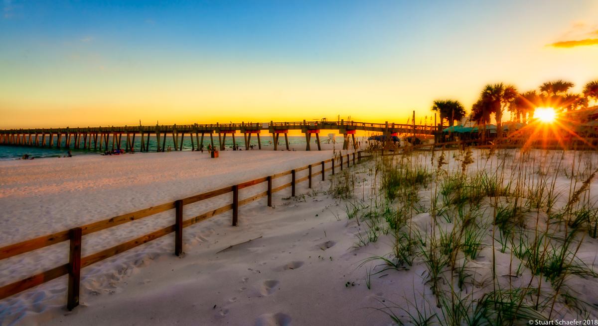 Sunburst Sunset At The Beach